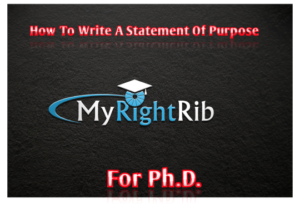 How to write a Statement of Purpose for Ph.D.